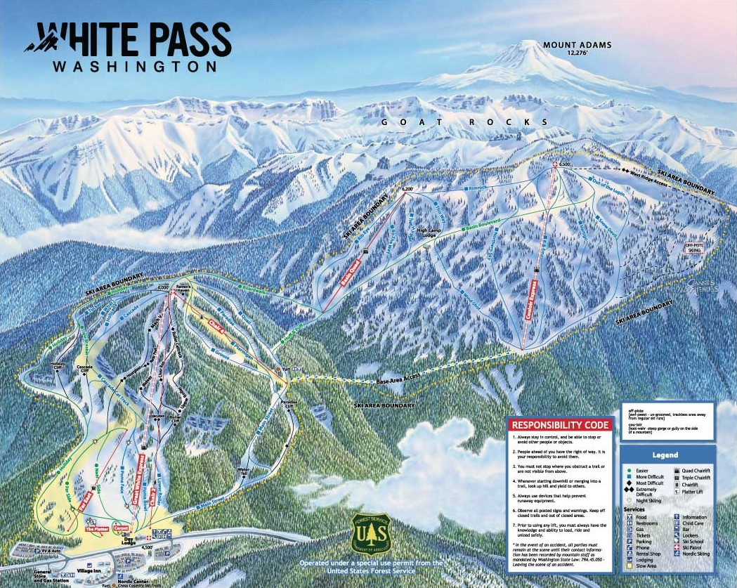 White Pass Map Trail Maps